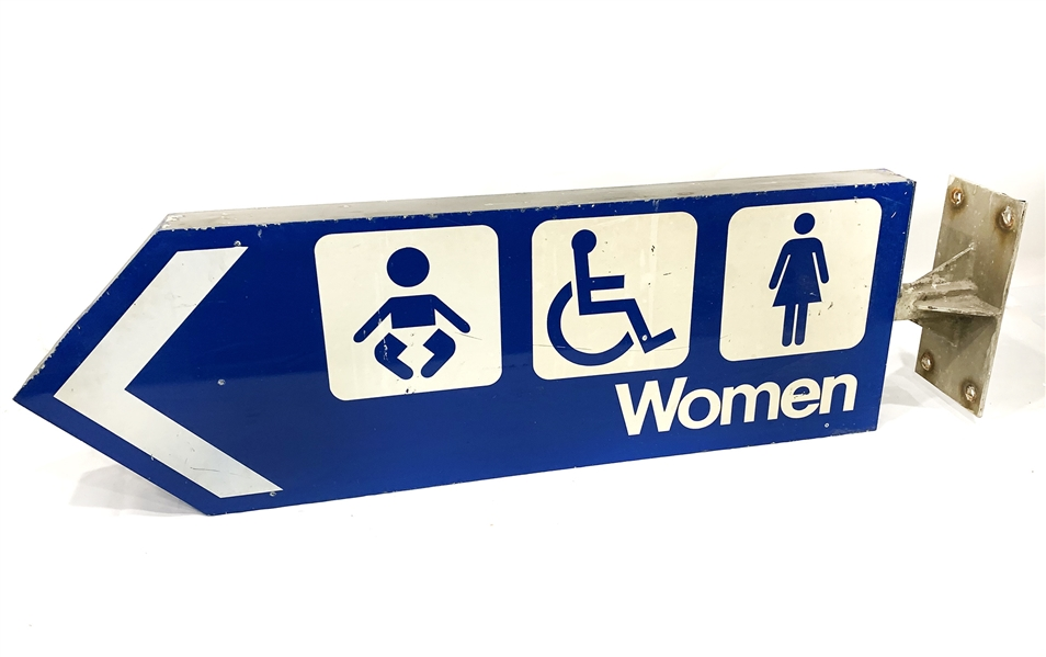 "2005 Busch Memorial Stadium 14"" x 48"" Womens Restroom Sign"