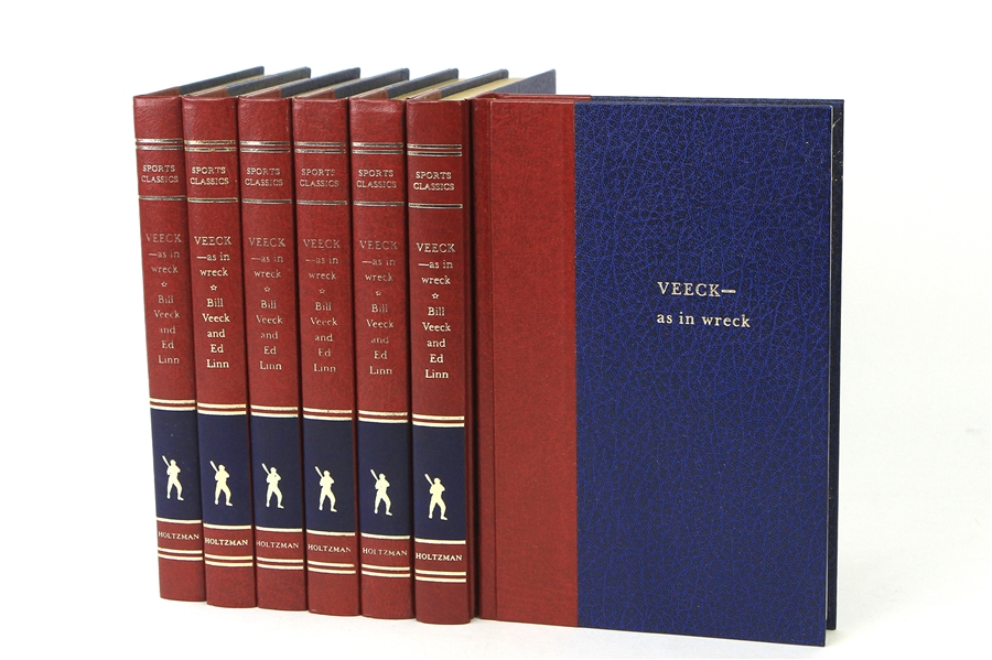 "1970s Bill Veeck Signed ""Veeck - As In Wreck"" Sports Classic Hardcover Editions - Lot of 7 (JSA)"