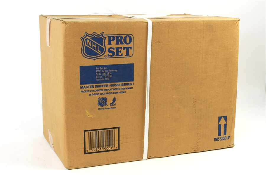 1990-91 NHL Pro Set Hockey Cards Factory Sealed Case w/ 20 x 36 Count Display Boxes