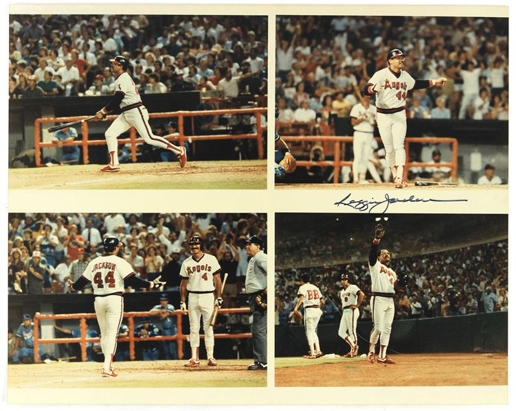 1982-1986 Reggie Jackson California Angels Signed 16x20 Photo (JSA)