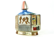 1972 Pro Football Hall of Fame Jim Beam Bourbon Whiskey Decanter