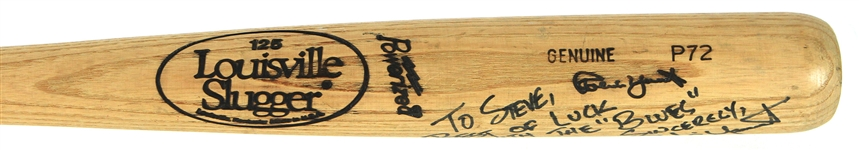 1990 Robin Yount Milwaukee Brewers Signed Louisville Slugger Professional Model Game Used Bat (MEARS A7/JSA)