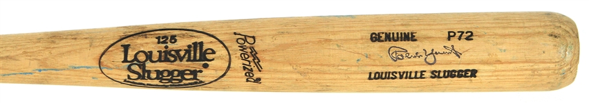 1983-85 Robin Yount Milwaukee Brewers Louisville Slugger Professional Model Game Used Bat (MEARS A10)