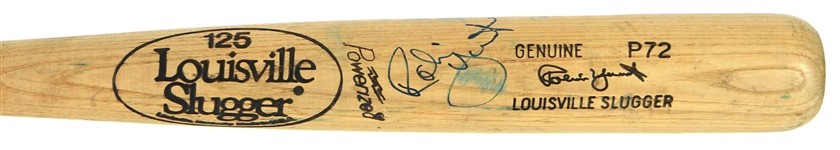 1980-83 Robin Yount Milwaukee Brewers Signed Louisville Slugger Professional Model Game Used Bat (MEARS A10/JSA)