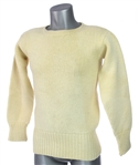 1940s-50s AG Spalding & Bros White Wool Football Sweater
