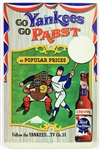 "1958 New York Yankees Pabst Blue Ribbon 13"" x 20"" Go Yankees Go Pabst Easelback Advertising Display"