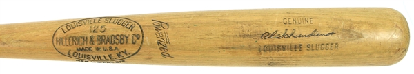 "1950s Al ""Red"" Schoendienst H&B Louisville Slugger Professional Model Bat Section (MEARS LOA)"