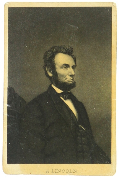 "1861-65 Abraham Lincoln 16th President of the United States 2.5"" x 3.75"" CDV Photo Card"