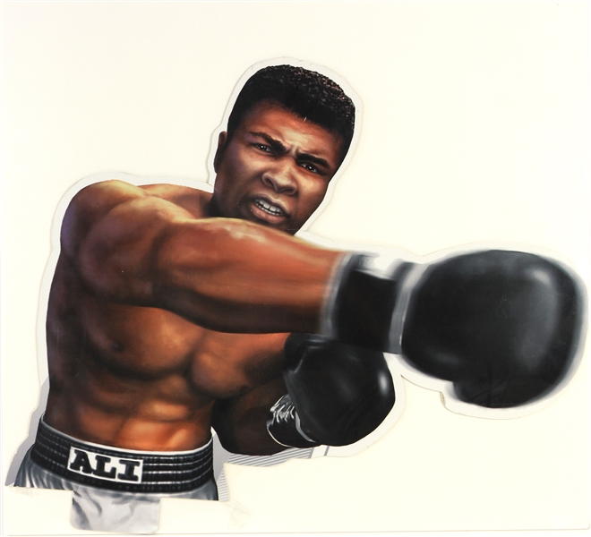 "2000s Muhammad Ali World Heavyweight Champion 26"" x 28"" Advertising Cutout"