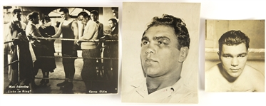1930s Max Schmeling Heavy Weight Champion Original Boxing Photo (Lot of 3)