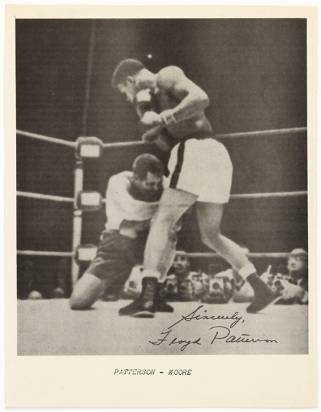 1960s Floyd Patterson Heavyweight Champion Signed 8x10 Photo