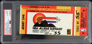 1975 NBA All Star Banquet Reception Full Ticket (PSA Slabbed Authentic)