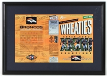 "1997 Denver Broncos Super Bowl Champions 20"" x 29"" Framed Wheaties Box"