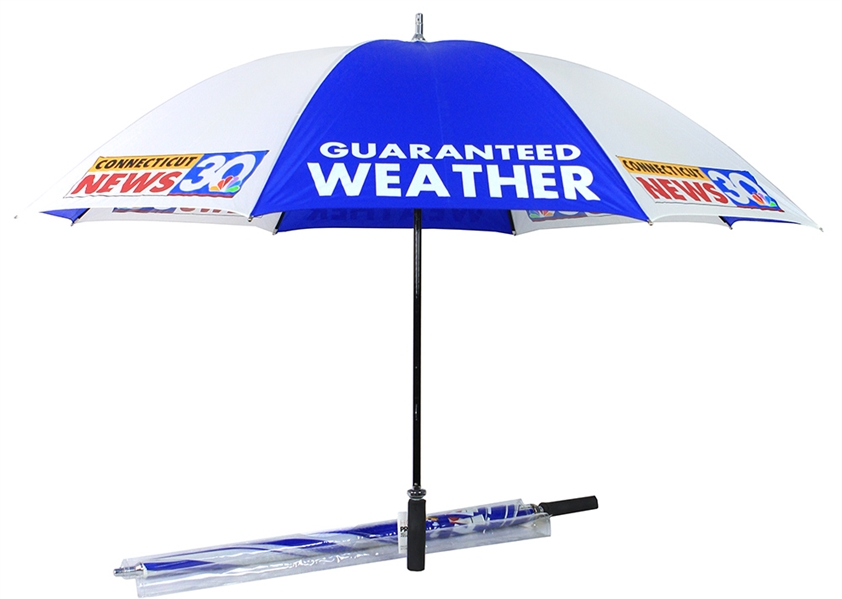 1990s Connecticut News NBC 30 Guaranteed Weather Umbrellas - Lot of 2