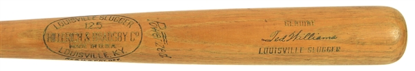 "1950-1960 Ted Williams H&B Louisville Slugger Team Index Bat (MEARS A6) ""Possibly matches 1 player order"""