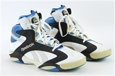 1993-94 Shaquille ONeal Anfernee Hardaway Orlando Magic Dual Signed Game Worn Reebok Pump Sneakers (MEARS LOA/JSA)