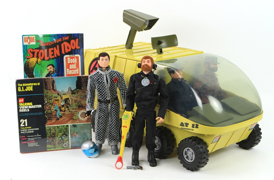1972-73 Gi Joe Toy Collection - Lot of 7 w/ Adventure Team Mobile Headquarters, Action Figures & More