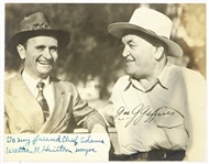 "1941-43 Walter Hinton Burbank Mayor Signed 7"" x 8.5"" Photo w/ World Heavyweight Champion James Jeffries"