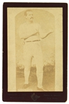 "1880s Paddy Ryan Bare Knuckle Champion 4.25"" x 6.5"" CDV Photo Card"