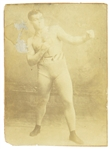 "1900s James J. Jeffries World Heavyweight Champion 4"" x 5"" CDV Photo Card"