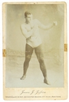 "1904 James J. Jeffries World Heavyweight Champion 4.25"" x 6.5"" CDV Photo Card"