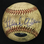 1954-65 Hank Aaron Milwaukee Braves Signed Game Used Baseball (MEARS LOA/JSA/Steiner)