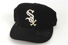 2002-04 Jose Valentin Chicago White Sox Signed Game Worn Cap (MEARS LOA/JSA)