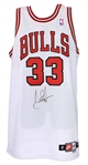 1997-98 Scottie Pippen Chicago Bulls Signed Home Jersey (MEARS A5 & PSA/DNA) NBA Champions