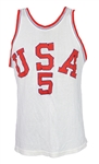 1950s USA #5 Game Worn Durene Basketball Jersey (MEARS LOA)