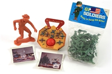 1950s-60s Vintage Toy & Polaroid Collection - Lot of 5 w/ MOC Play Purse Jack Set, MIB GI Soldiers & More