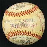 1957 San Fracisco Seals PCL Team Signed OPCL OConnor Baseball w/ 19 Signatures Including Albie Pearson & More (JSA)