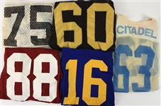 1970s-80s College Football Game Worn Jersey Collection - Lot of 10 (MEARS LOA)