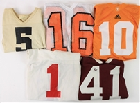 1960s-2000s College Football Game Worn Jersey Collection - Lot of 8 (MEARS LOA)