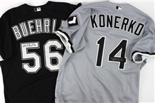 2000 Chicago White Sox Game Worn Jerseys - Lot of 18 w/ 10 Signed Including Mark Buehrle, Paul Konerko, Magglio Ordonez, Ray Durham & More (MEARS LOA/JSA)