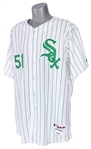 2005 Luis Vizcaino Chicago White Sox Signed St. Patricks Day Uniform (MEARS LOA/JSA/MLB Hologram)
