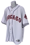 2007 (July 1) Javier Vazquez Chicago White Sox Signed 1945 Negro League Throwback Road Uniform (MEARS LOA/JSA/MLB Hologram)