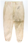 1972 Ed Herrmann Chicago White Sox Signed Game Worn Home Uniform Pants (MEARS LOA/JSA)