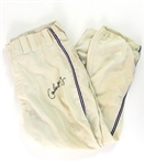 1970 Carlos May Chicago White Sox Signed Game Worn Home Uniform Pants (MEARS LOA/JSA)