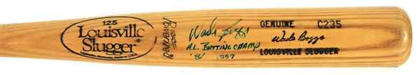 1986 Wade Boggs Boston Red Sox Signed H&B Louisville Professional Model Bat (MEARS A5/JSA)