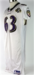 2005 Thatcher Szalay Baltimore Raves Game Worn Road Jersey (MEARS LOA)
