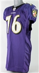 2011 Jah Reid Baltimore Ravens Game Worn Home Jersey (MEARS LOA)