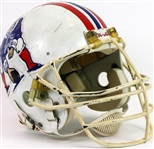 1980s New England Patriots Game Worn Football Helmet (MEARS LOA)