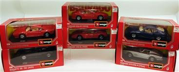 Burago Toy Cars (Lot of 6)