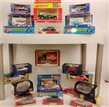 Case III, Eidai Grip, Road Champs, IXO Models, & Majorette Toy Cars (Lot of 19)