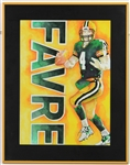 2000s Brett Favre Green Bay Packers Artisit Signed Canvas & Framed Lithograph Collection - Lot of 6