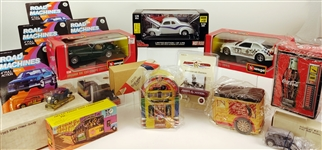 Burago, Racing Champions Toy Cars, Radio Flyer, Cable Car and more (Lot of 15)