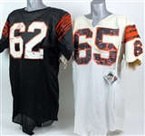 1984-87 Cincinnati Bengals Game Worn Jersey Collection - Lot of 2 w/ Max Montoya & Gary/Ken Smith (MEARS LOA/Bengals Pro Shop)
