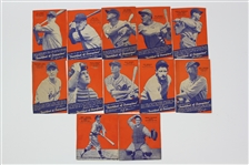 1936 Wheaties Baseball Trading Cards - Lot of 24 w/ Lou Gehrig, Lefty Grove, Jimmie Foxx, Mel Ott & More
