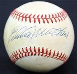 1970-86 Eddie Mathews Milwaukee Braves Signed ONL Baseball (JSA)