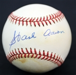 1994-1999 Hank Aaron Milwaukee Braves Signed ONL Baseball *JSA*